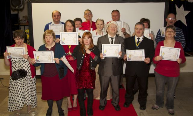 Arty Party Members with their certificates.