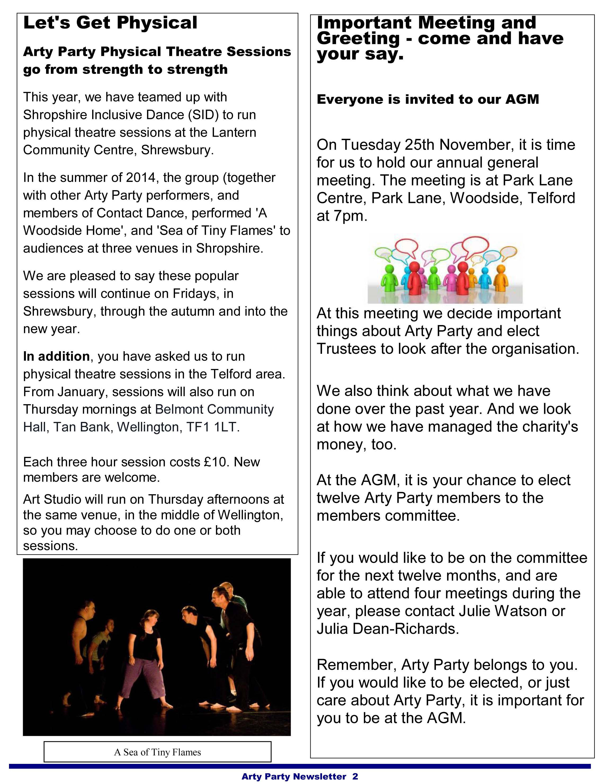 Arty Party Newsletter October 2014 real-2