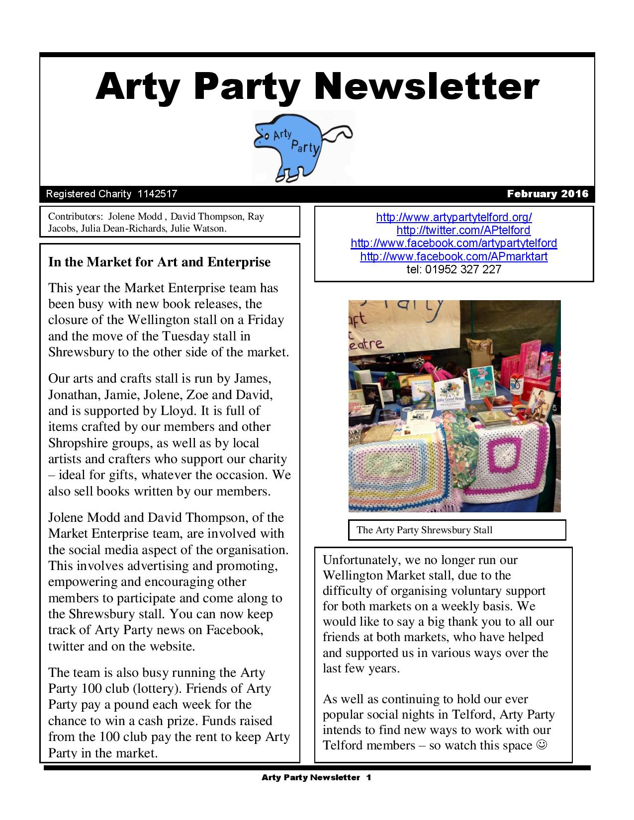 Arty Party Newsletter February 2016-page-001