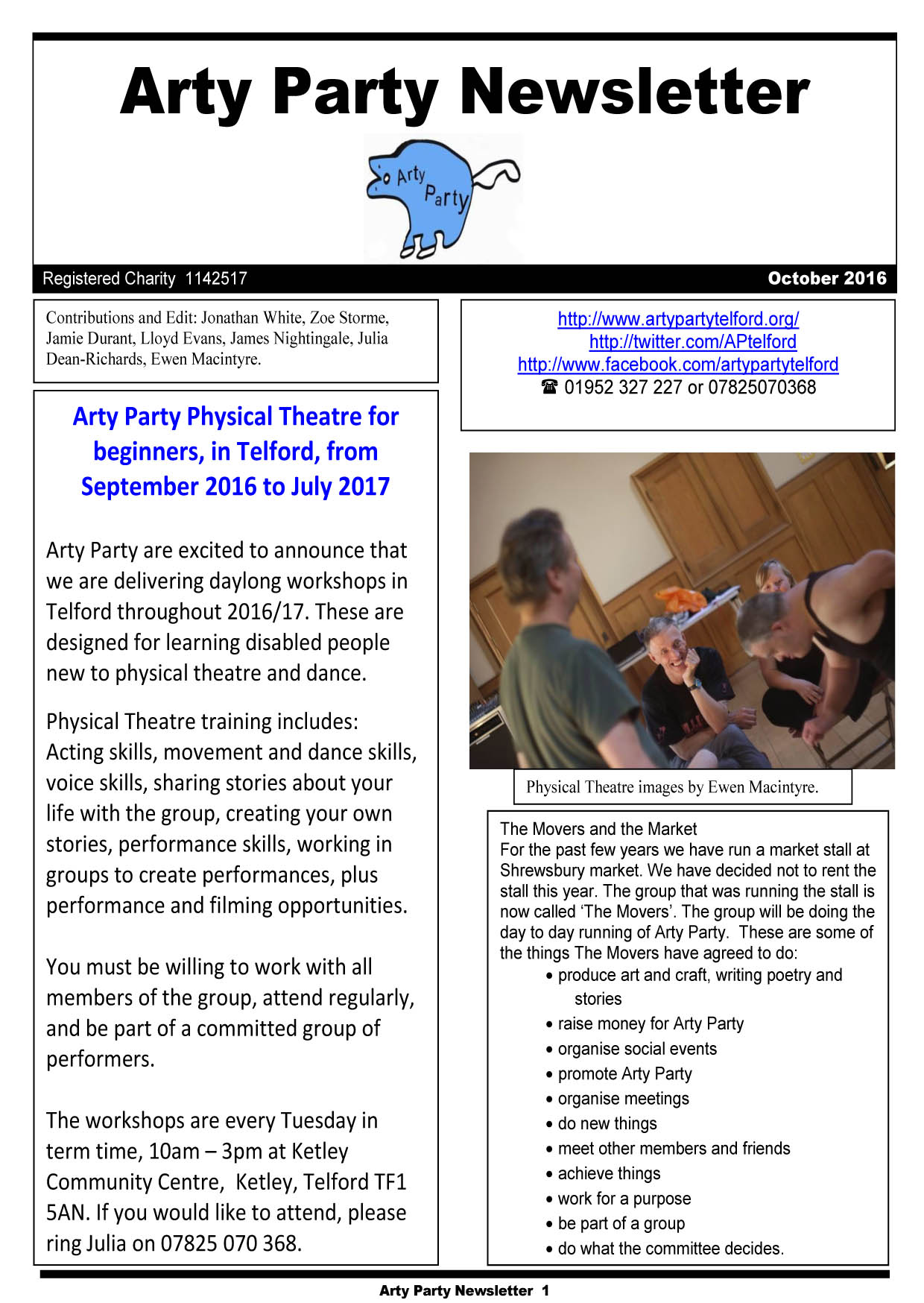 Newsletter October 2016