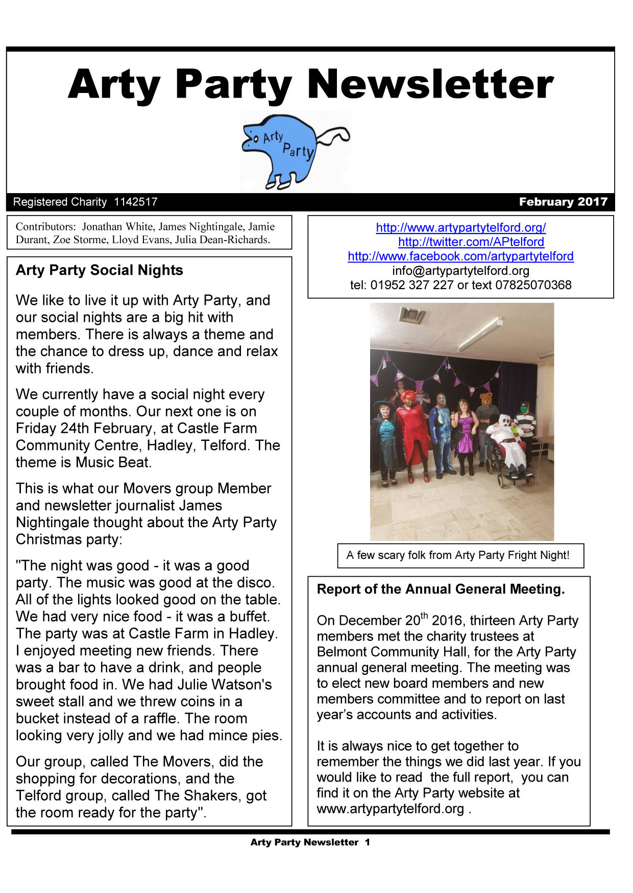 Arty Party Newsletter 070217