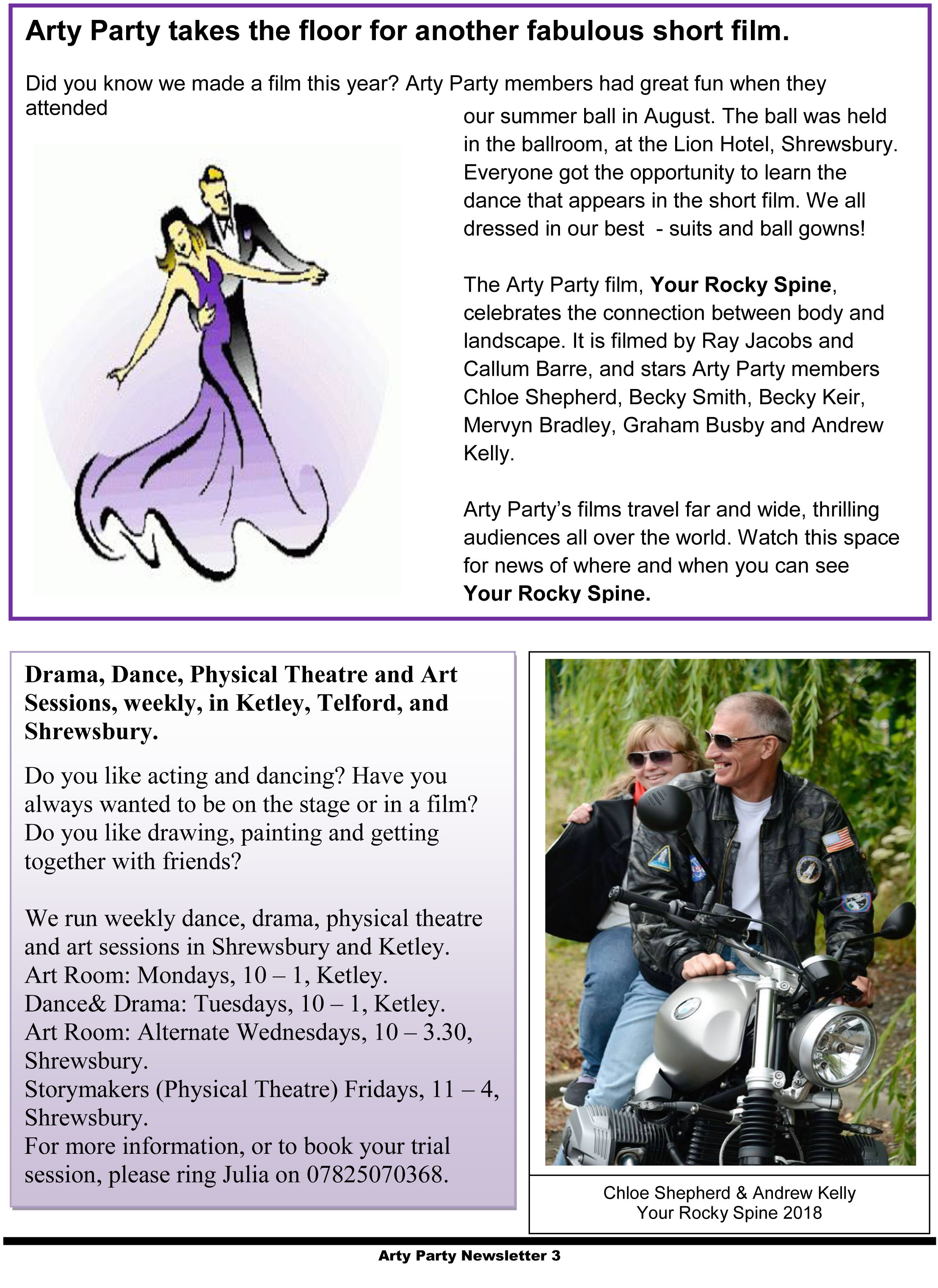 Arty Party Newsletter 171018-3